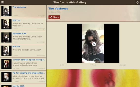 The Carrie Able Gallery apk screenshot