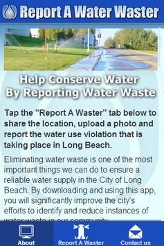 Report A Water Waster poster