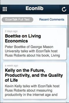 Econlib apk screenshot