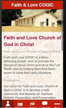 Faith and Love COGIC App poster