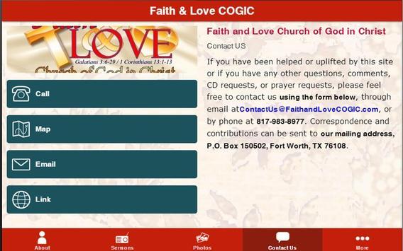 Faith and Love COGIC App screenshot 2