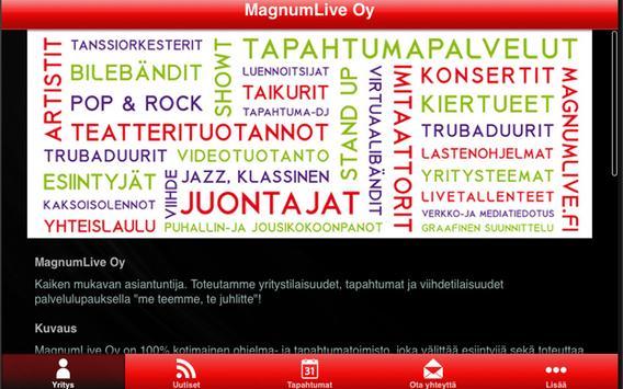 MagnumLive Oy apk screenshot