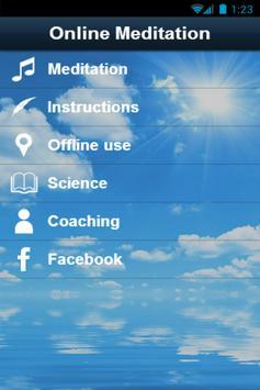 Online Meditation poster