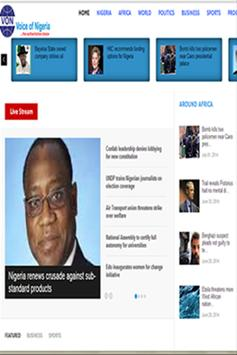 VOICE OF NIGERIA News apk screenshot