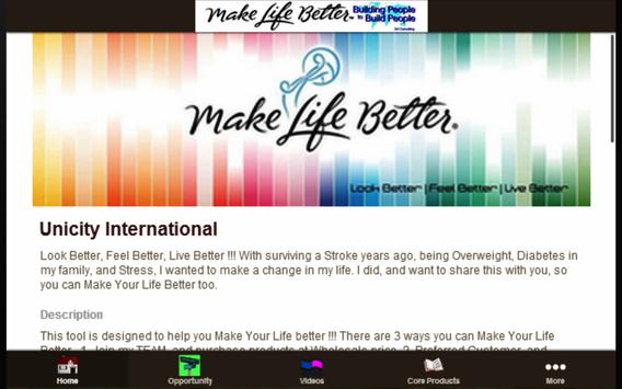 Make Life Better with UNICITY apk screenshot