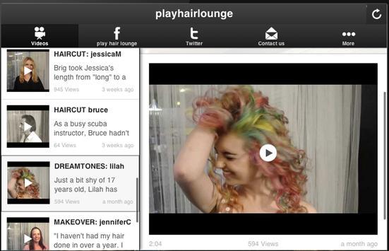 p!ay hair lounge screenshot 3