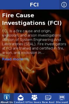 Fire Cause Investigations/FCI poster