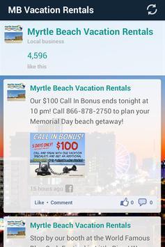 Myrtle Beach Vacation Rentals screenshot 1
