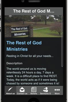 The Rest of God Ministries poster