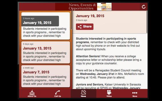 SPHS Newsletter apk screenshot