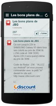 Les Bons Plans de JBG apk screenshot
