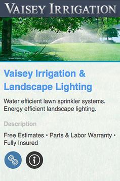 Vaisey Irrigation poster