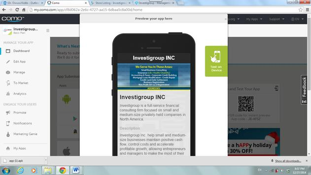 Investigroup apk screenshot