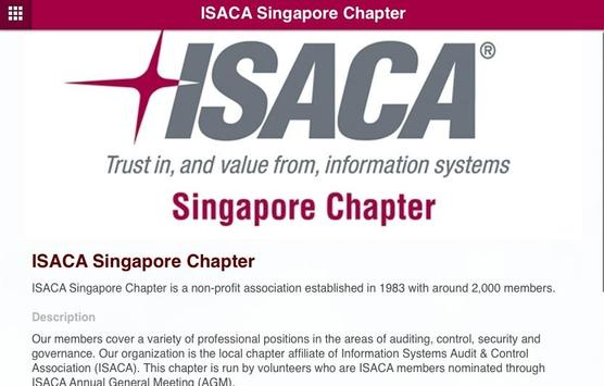 ISACA Singapore Chapter poster