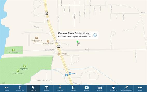 Eastern Shore Baptist Church screenshot 2