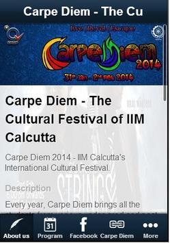 Carpe Diem IIM Calcutta poster
