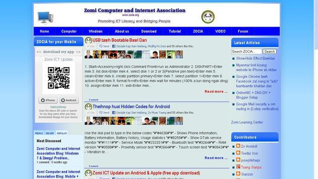Zomi ICT Update apk screenshot