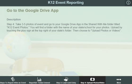 K12 Event Reporting poster