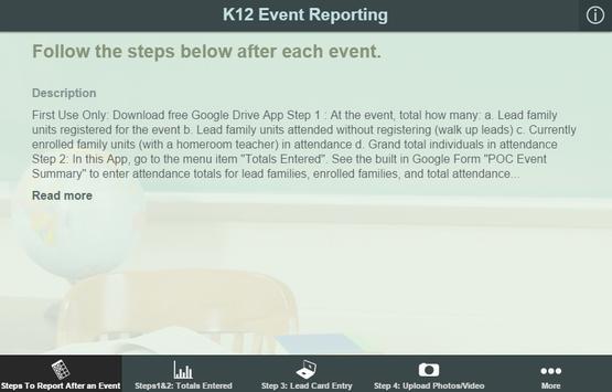 K12 Event Reporting apk screenshot