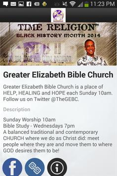 Greater Elizabeth Bible Church poster