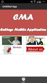 College Mobile Application poster