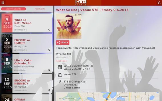 HTG Events screenshot 1