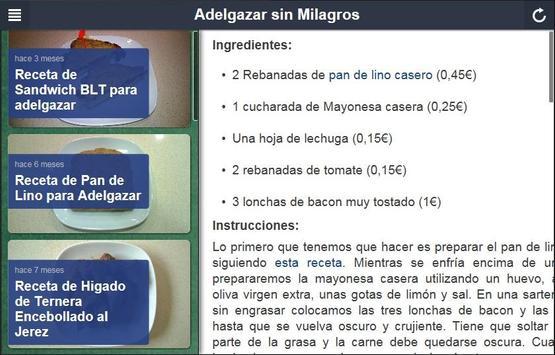Adelgazar sin Milagros apk screenshot