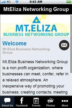 MtEliza Networking Group poster