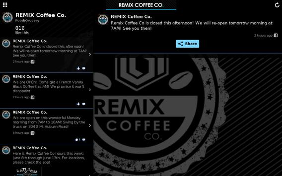 REMIXCoffeeCo apk screenshot