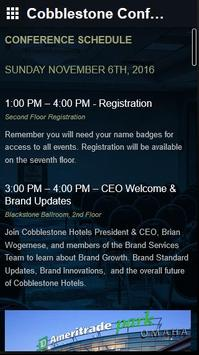 Cobblestone Conference apk screenshot