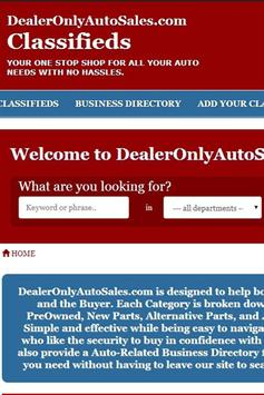 Dealer Only Auto Sales poster
