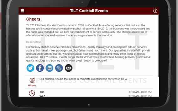 TILT Cocktail Events apk screenshot