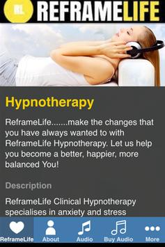 ReframeLife Hypnotherapy poster