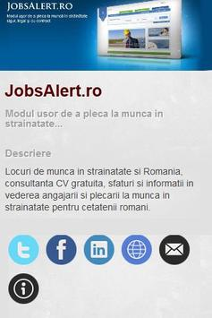 Jobs Alert Romania Mobile App poster