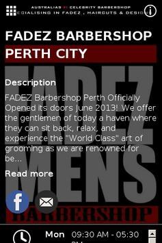 Fadez Barbershop poster