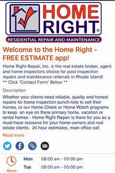 Home Right Repair ESTIMATE poster