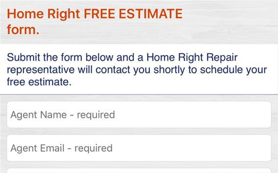 Home Right Repair ESTIMATE screenshot 2