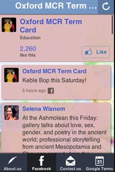 Oxford MCR Term Card poster