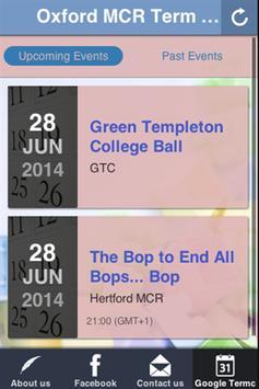 Oxford MCR Term Card screenshot 1
