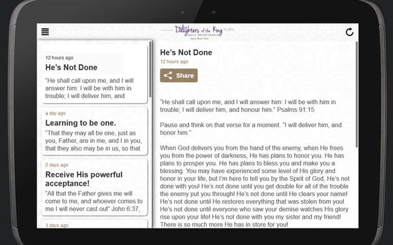 Daughters of the King Daily Devotionals screenshot 5
