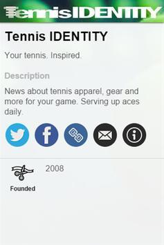 Tennis IDENTITY poster