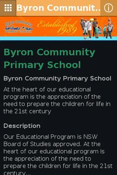 Byron Community Primary School poster