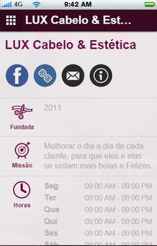 LUX Cabelo & Estética apk screenshot