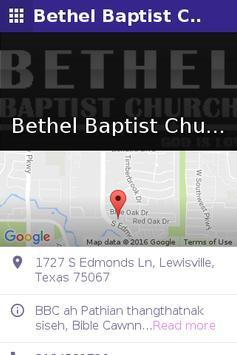 Bethel Baptist Church of Texas apk screenshot