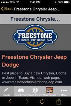 Freestone Chrysler Jeep Dodge poster