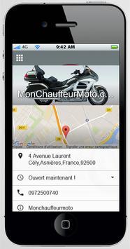 MonChauffeurMoto.com screenshot 1