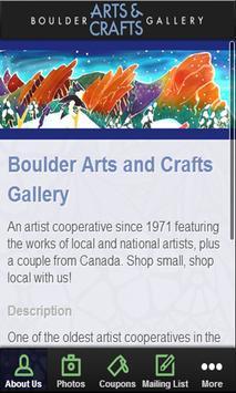 Boulder Arts Gallery poster