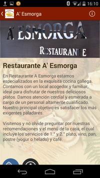 Restaurante A' Esmorga apk screenshot