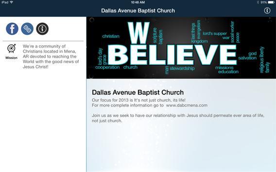 Dallas Avenue Baptist Church apk screenshot