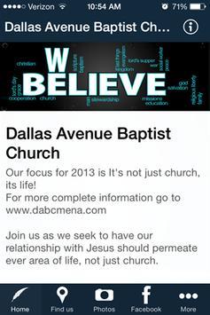 Dallas Avenue Baptist Church poster